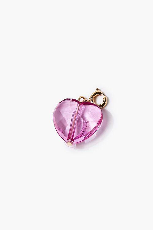 Faux Gem Heart Charm, image 1