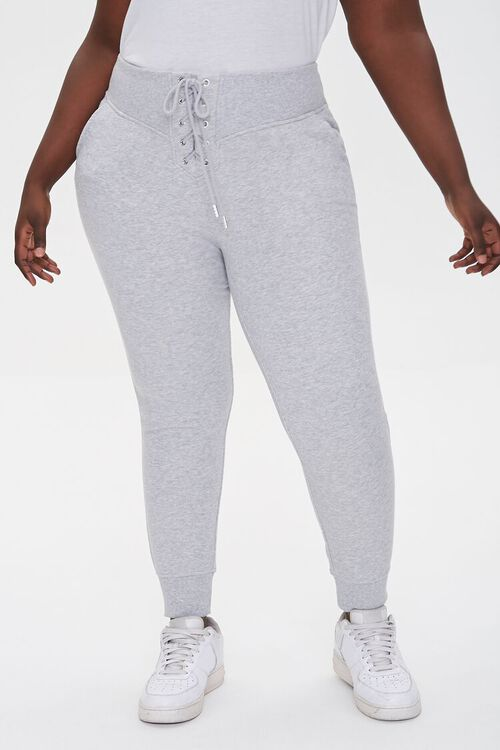 Plus Size French Terry Joggers, image 2