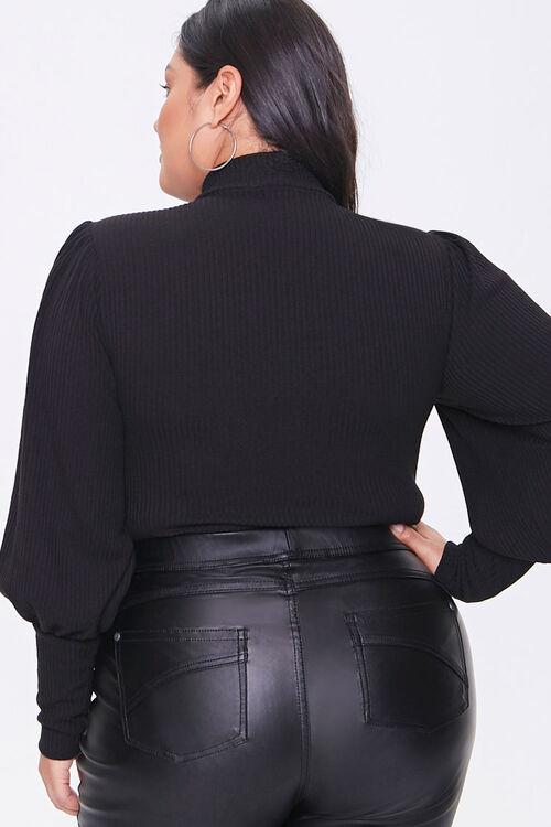 Plus Size Balloon-Sleeve Bodysuit, image 3