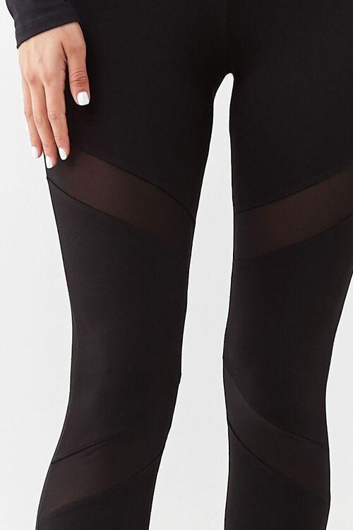 Sheer Mesh-Panel Leggings, image 5