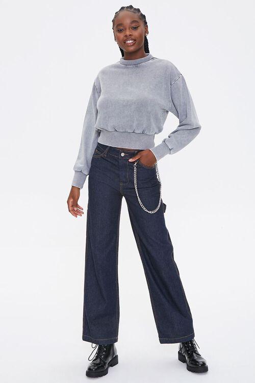 Fleece Mock Neck Pullover, image 4