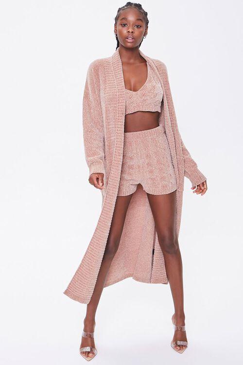 Chenille Longline Cardigan Sweater, image 4