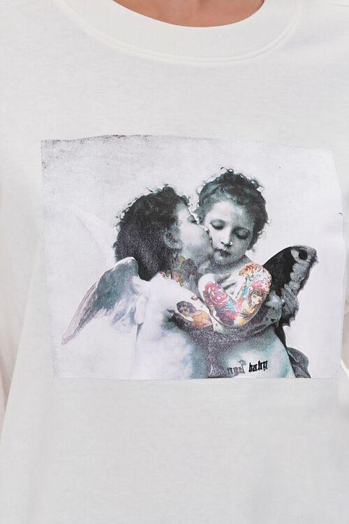 CREAM/MULTI Tattooed Angels Graphic Tee, image 5