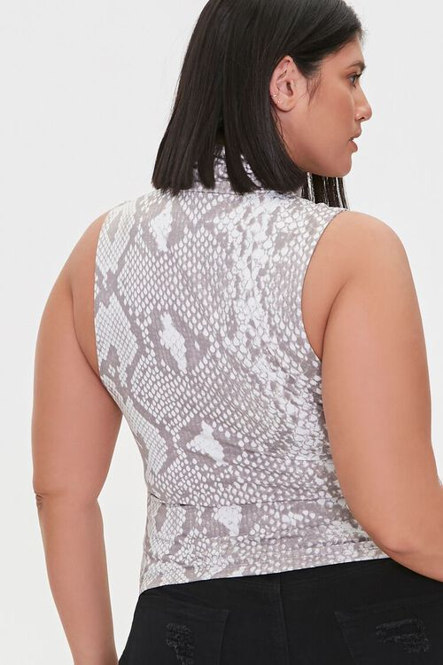 Plus Size No Filter Snake Print Top, image 3