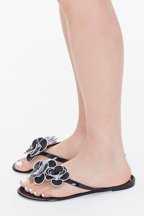 Floral Applique Thong Sandals, image 2