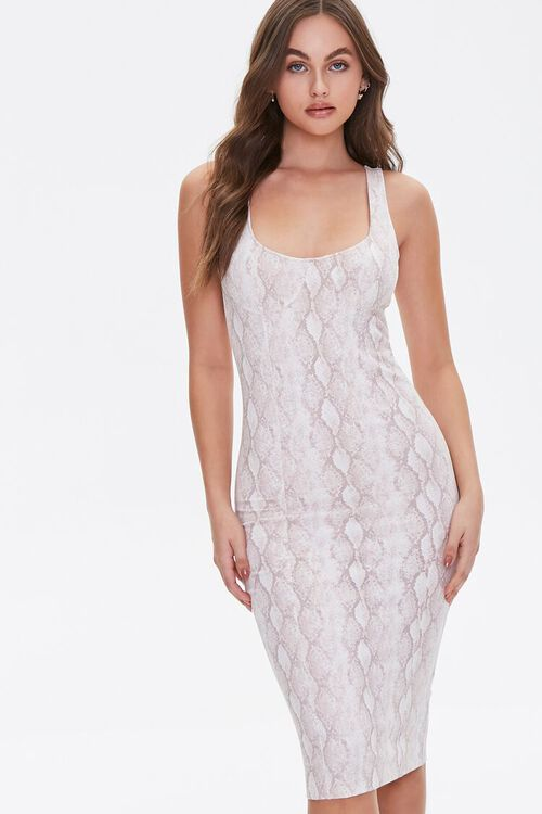 Snakeskin Print Tank Dress, image 2
