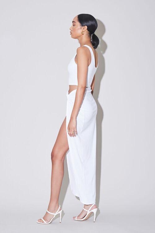 Ribbed Crop Top & Side-Slit Skirt Set, image 2