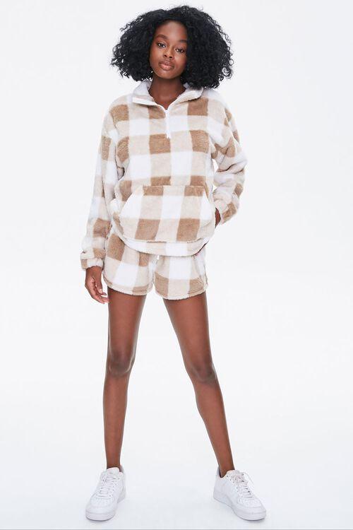Plush Gingham Drawstring Shorts, image 5