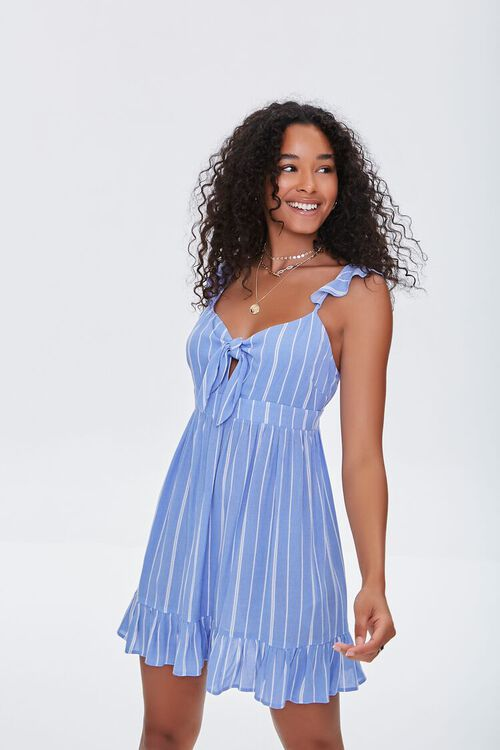 Striped Mini Dress, image 1