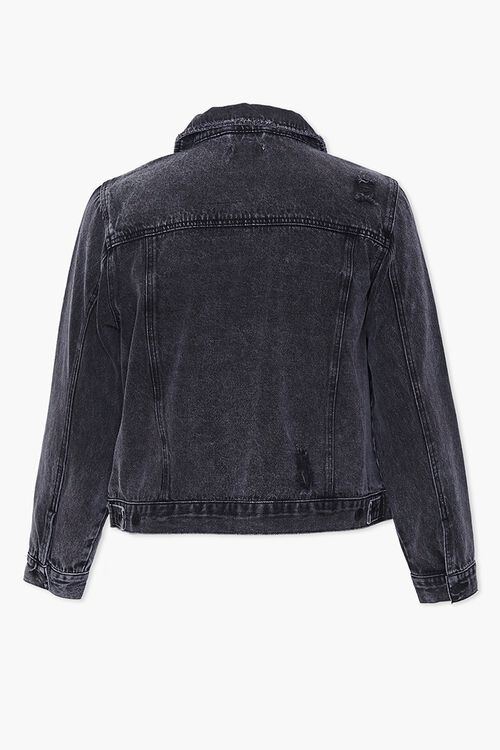 Plus Size Distressed Denim Jacket, image 3