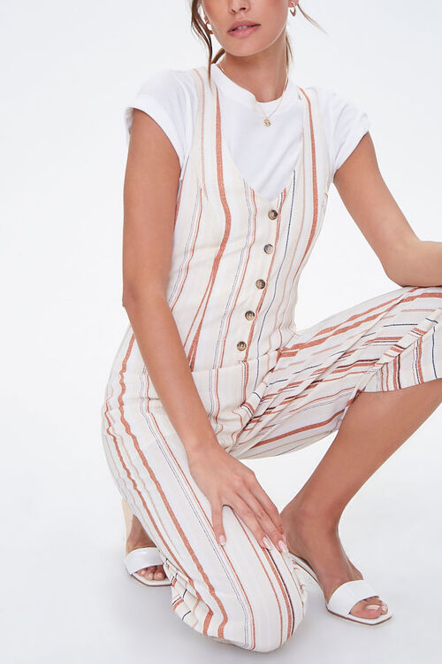 Striped Culotte Jumpsuit, image 4