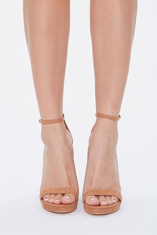 Faux Suede Block Heels, image 4