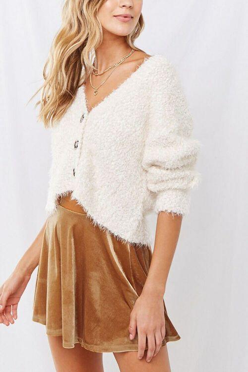 Velvet Mini Skater Skirt, image 1