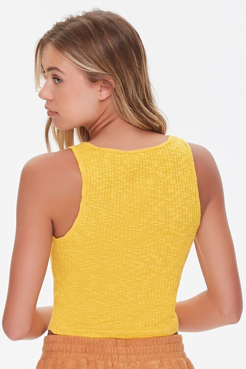 Ribbed Button-Front Tank Top, image 3