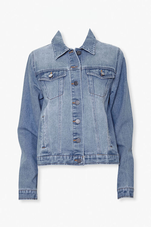 Button-Front Denim Jacket, image 1