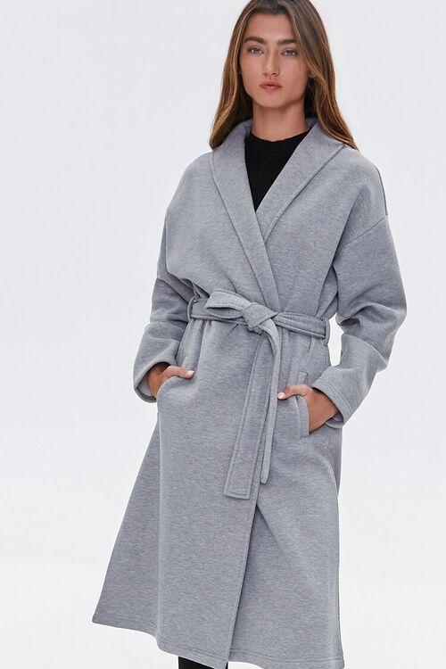 Fleece Tie-Waist Wrap Jacket, image 2