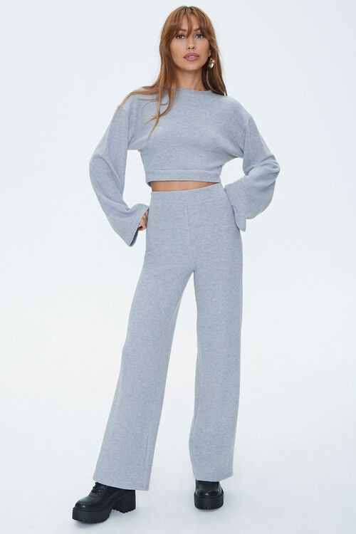Bell Sleeve Pullover & Flare Pants Sets, image 4