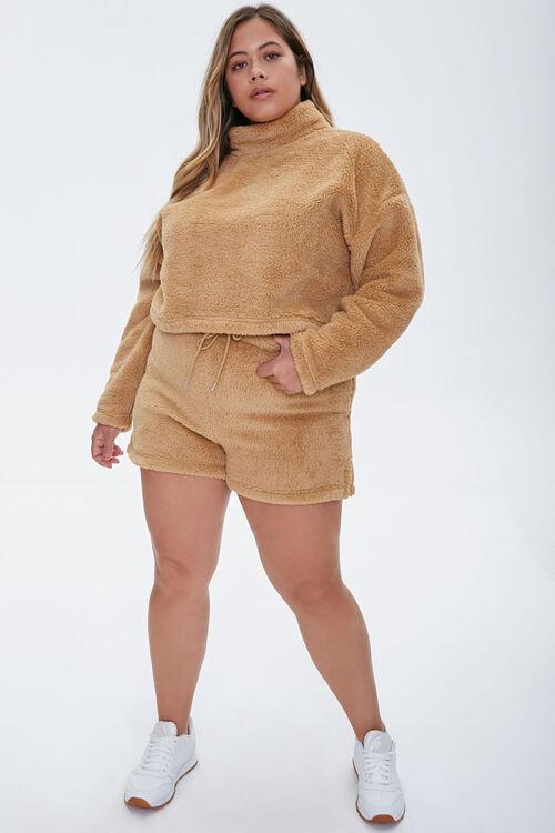 Plus Size Fuzzy Shorts, image 5