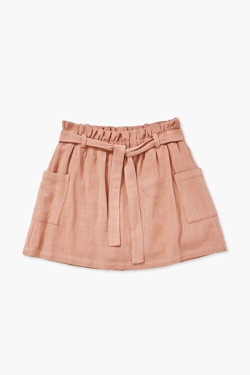 Girls A-Line Linen Skirt (Kids), image 1