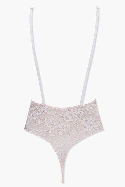 Floral Lace Thong Bodysuit, image 2