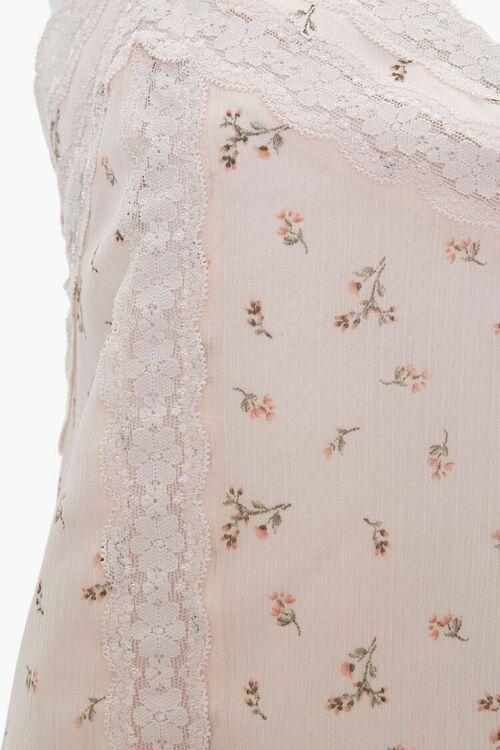 Floral Lace-Trim Cami, image 3