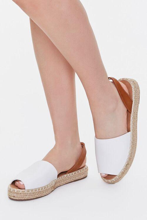 Peep-Toe Espadrille Flatform Sandals, image 1