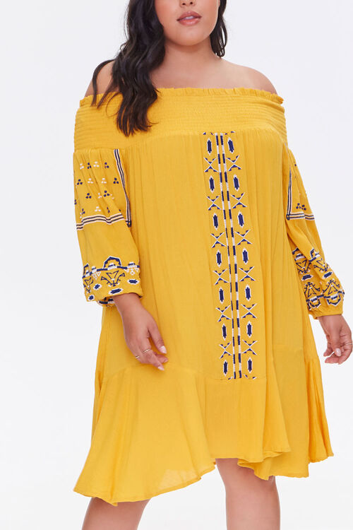 Plus Size Embroidered Dress, image 1