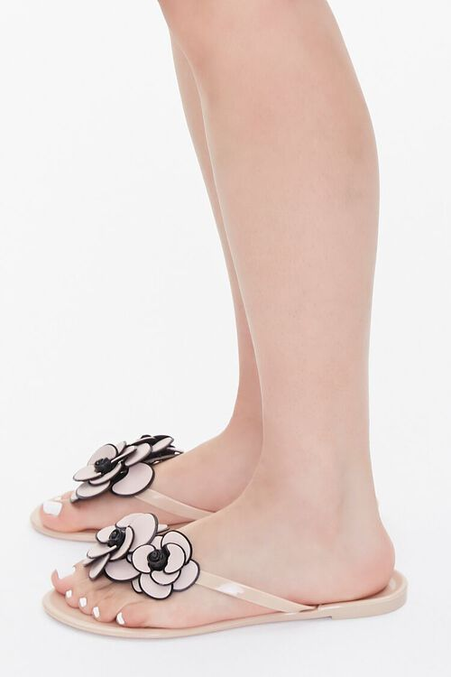 Floral Applique Thong Sandals, image 2