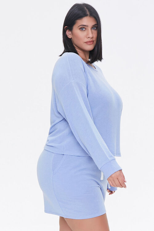 Plus Size Pullover & Shorts Set, image 2