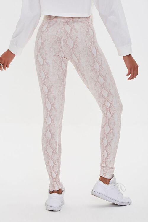 BLUSH/MULTI Snakeskin Print Leggings, image 4