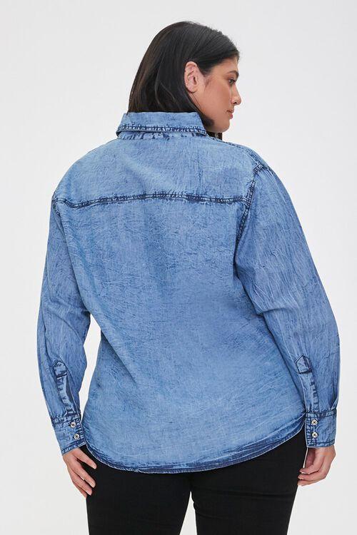Plus Size Denim Buttoned Shirt, image 3