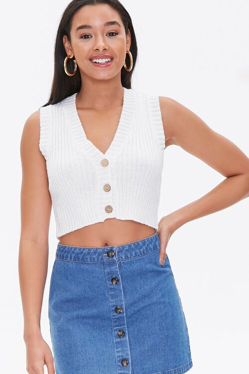 Cropped Sweater-Knit Vest, image 2