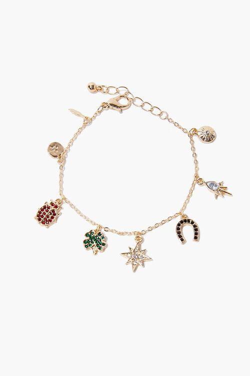 Rhinestone Charm Bracelet, image 1