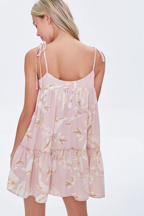 Leaf Print Mini Dress, image 3