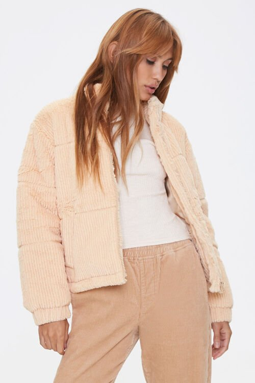 Plush Quilted Puffer Jacket, image 1