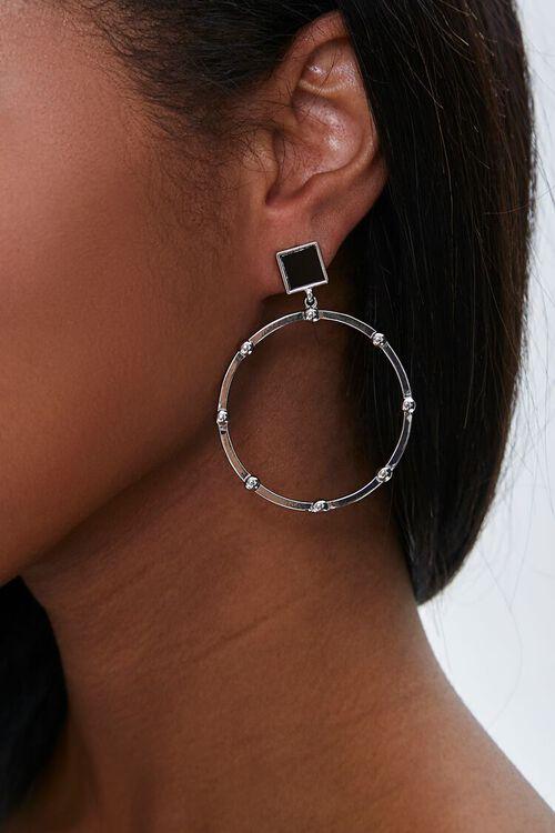 Beaded Hoop Drop Earrings, image 1