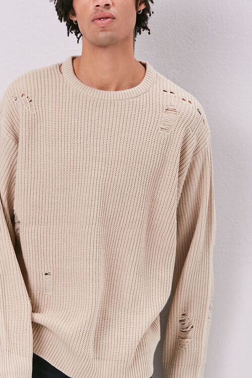 Distress Ribbed Knit Sweater, image 5