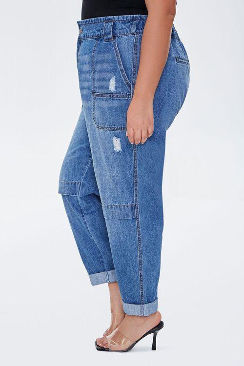 Plus Size Straight-Leg Cuffed Jeans, image 3