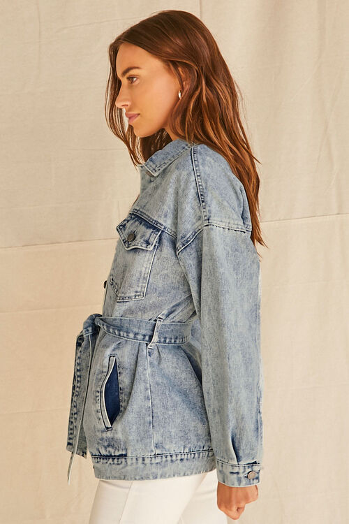 Longline Belted Denim Jacket, image 2