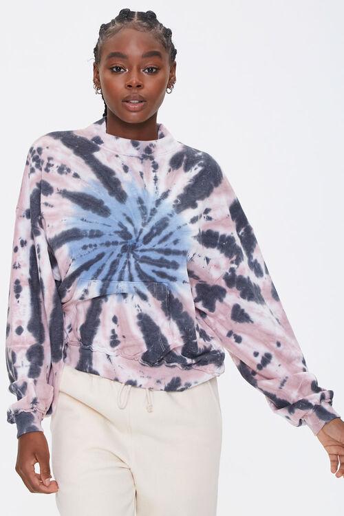BLACK/MULTI Fleece Tie-Dye Sweatshirt, image 1