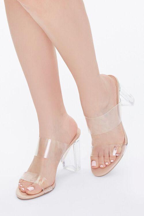 Transparent Lucite Block Heels, image 1