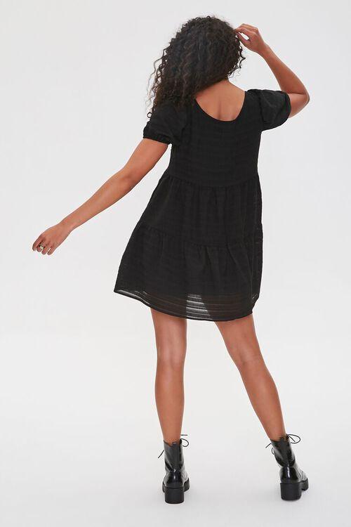 Striped Puff-Sleeve Mini Dress, image 3