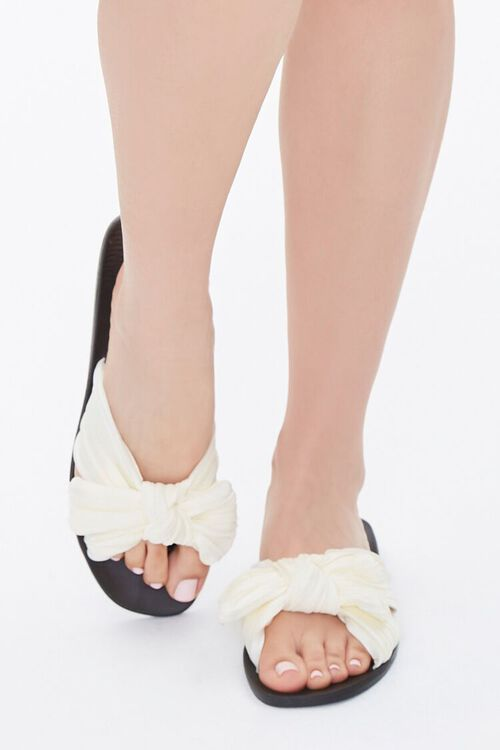 Chiffon Crisscross Bow Sandals, image 4