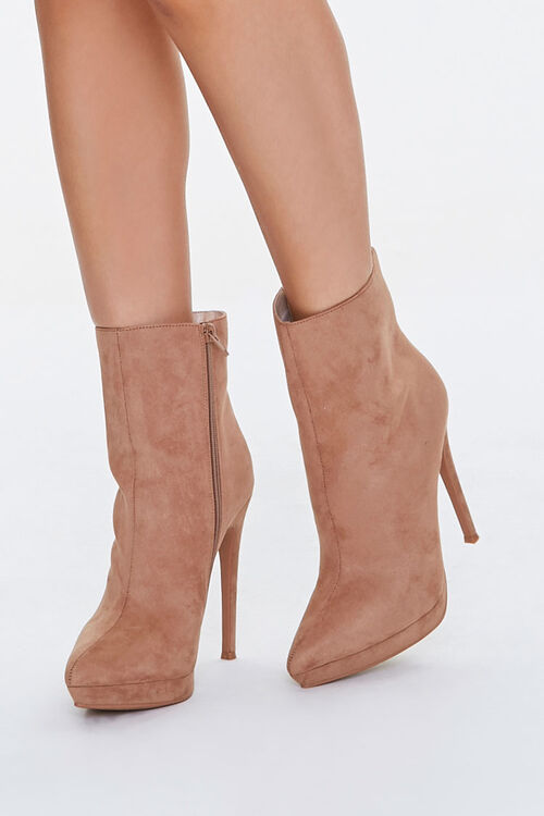 Faux Suede Stiletto Booties, image 1