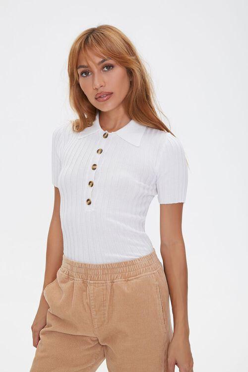 Sweater-Knit Polo Shirt, image 1