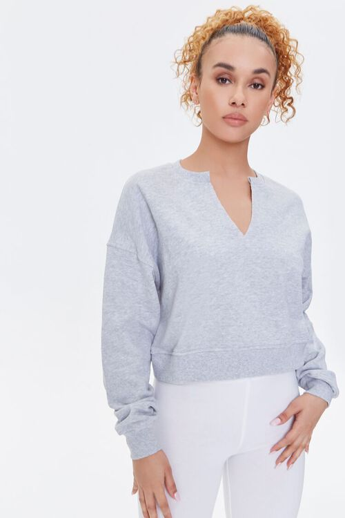 Split-Neck Sweatshirt, image 1