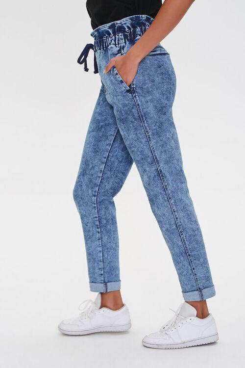 MEDIUM DENIM Paperbag Drawstring Jeans, image 3