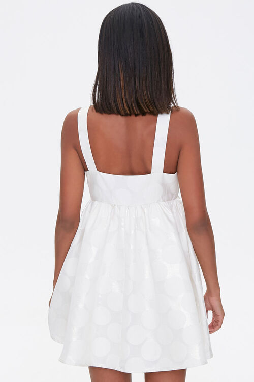Metallic Polka Dot Fit & Flare Dress, image 3