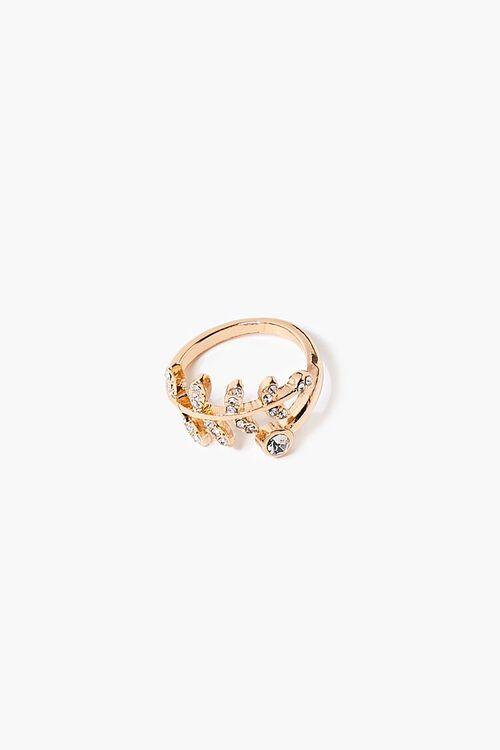 Faux Gem Leaf Ring, image 1