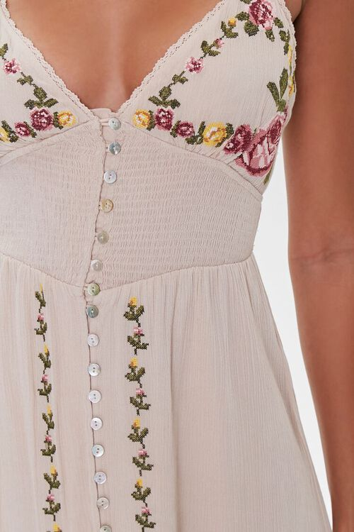 Floral Embroidered Maxi Dress, image 5